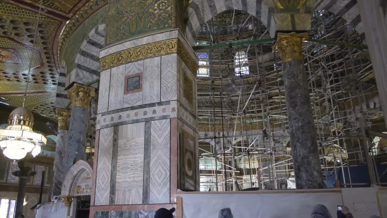 Mosque Shooting Wikipedia: File:Rare Indoor Footage Dome Of Rock Mosque, Old City