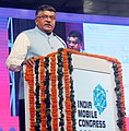 "Ravi Shankar Prasad addressing at the inauguration of the ""India Mobile Congress 2017"", the country's largest platform Connecting-Mobile-Internet-Technology, in New Delhi.jpg"