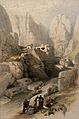 Ravine at the eastern entrance to Petra. Coloured lithograph Wellcome V0049437.jpg