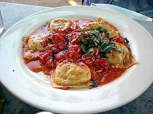 Marinara sauce - A plate of ravioli alla marinara