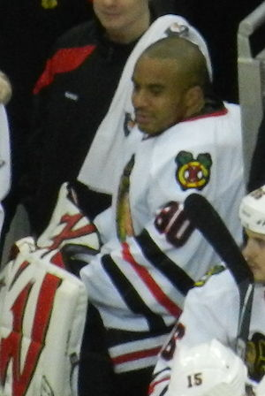 Ray Emery - Emery on the bench for the Blackhawks