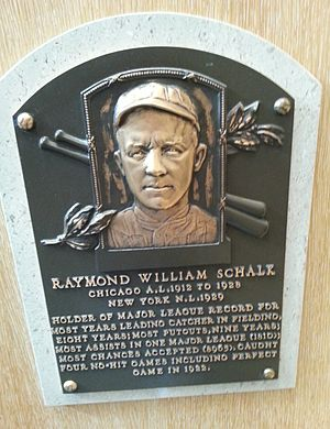 Ray Schalk - Schalk's plaque at the National Baseball Hall of Fame and Museum