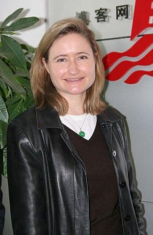 Journalist Rebecca MacKinnon. Crop of original...