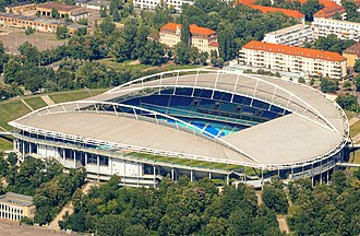 Red Bull Arena (Leipzig) - Image: Red Bull arena, Leipzig von oben Zentralstadion