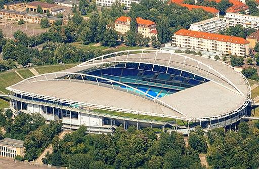 Red Bull arena, Leipzig von oben Zentralstadion
