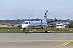 Regional Express (VH-ZPC) Saab 340, in former PenAir livery, at Wagga Wagga Airport.jpg