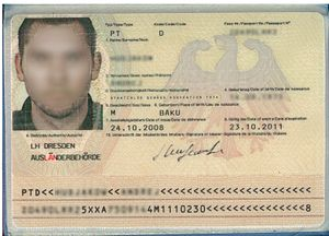 Certificate of identity - A certificate of identity issued in Germany in 2008