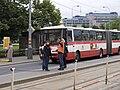 Reko TT Prašný most - Vítězné náměstí, Vítězné náměstí, osvěta cestujících.jpg