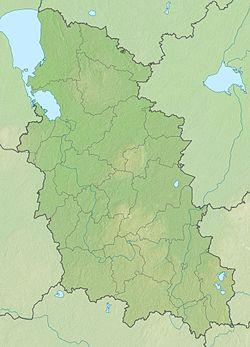 Псковско језеро на мапи Псковске области