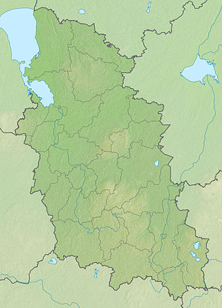 Location map Pskovo sritis