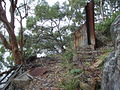 Remains of a shack on the eastern end of Spectacle Island in the Hawkesbury River - 2009.JPG