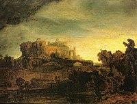 Rembrandt - Landschaft mit Gebäuden.jpg