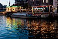 Restaraunt reflected in water in Amsterdam (6073893028).jpg