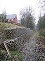Retaining wall, former trackbed, UIlesthorpe - geograph.org.uk - 1621256.jpg