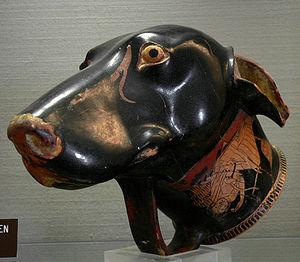 Brygos - Image: Rhyton en forme de tête de chien