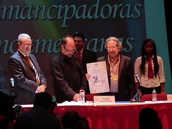 English: Ricardo Piglia, argentine writer. Win...