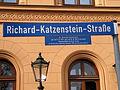 Richard-Katzenstein-Straße Dr. Richard Katzenstein 17.12.1878 Hannover 20.10.1942 Jerusalem Senatspräsident am OLG Celle auf Grund seines jüdischen Glaubens 1933 aus dem Amt entfernt.jpg