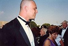 Richard Moll on the red carpet at the 39th Annual Emmy Awards.jpg
