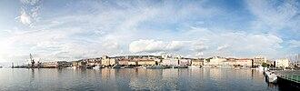 Transport in Croatia - Panorama of Port of Rijeka