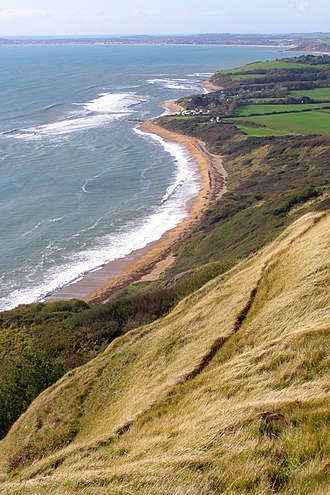 Ringstead Bay - Image: Ringstead bay from the clifftop