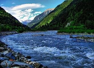 Rioni River - Rioni River in Racha Region
