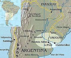 Main urban centers of Rioplatense Spanish.
