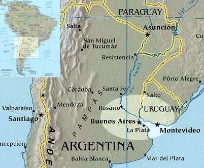 Rioplatense Spanish area main cities