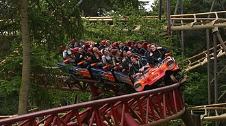Rita (roller coaster) - Image: Rita Queen of Speed (Alton Towers) 09