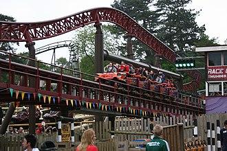 Rita (roller coaster) - Image: Rita Queen of Speed (Alton Towers) 10