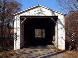 Rob Roy's covered bridge, now out of service