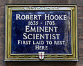 Robert Hooke City of London plaque.jpg