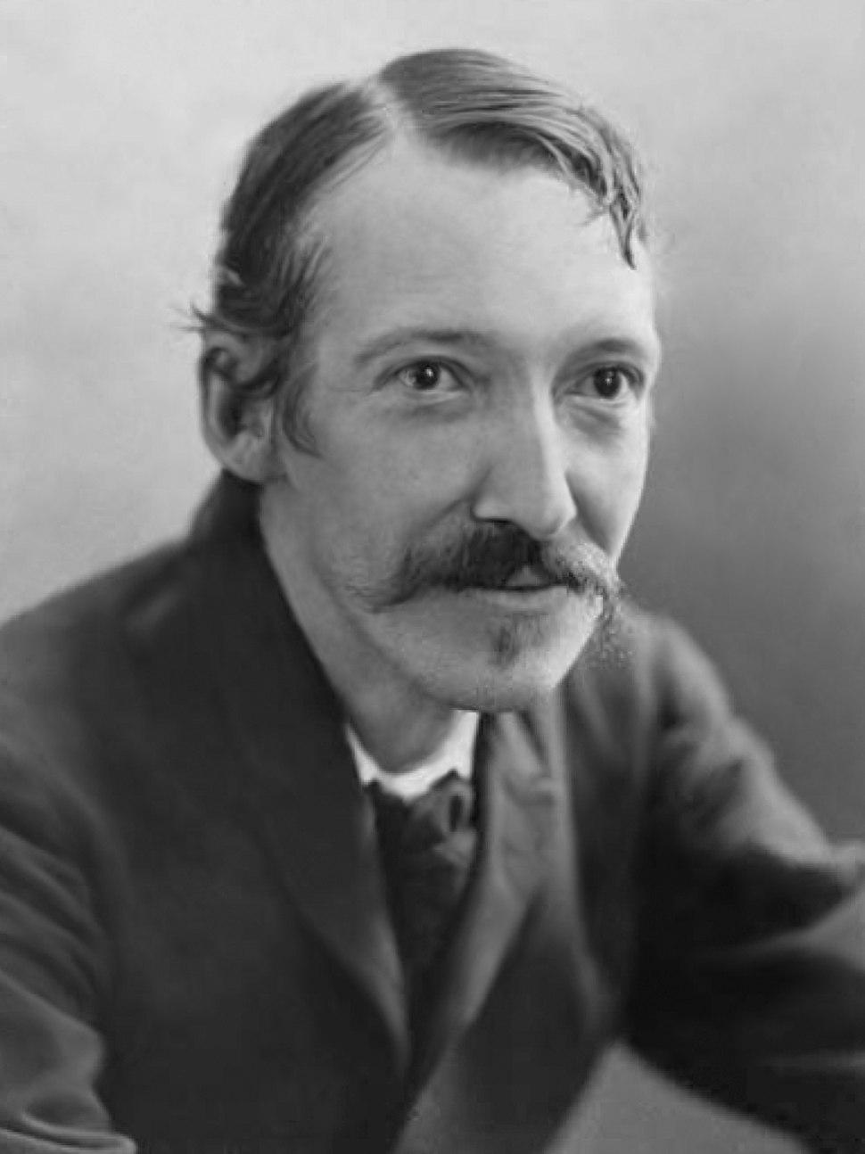 Robert Louis Stevenson by Henry Walter Barnett bw