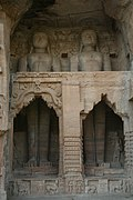 Rock-cut Jain Statues in the Gwalior Fort.JPG