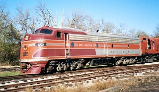 EMD E8 model of 2250 hp American passenger cab locomotive