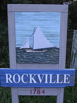 Sign entering Rockville