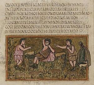 Vergilius Romanus - Image: Roman Virgil Folio 016r
