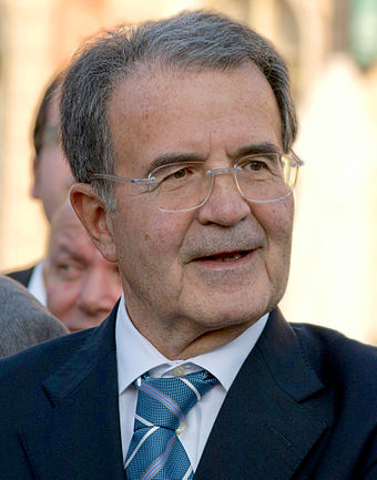 Romano Prodi, the two-time prime Minister of Italy, former president of the European Commission and founding father of the Democratic Party Romano Prodi in Nova Gorica (2c).jpg