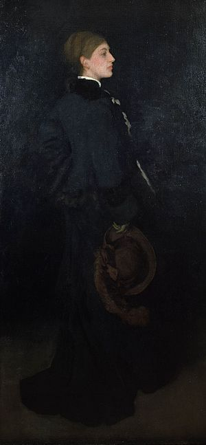 Rosa Corder - James Abbott McNeill Whistler, Arrangement in Brown and Black: Portrait of Rosa Corder, 1876-1878, Frick Collection