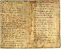 Rosalía de Castro, manuscrito con cantares populares, algúns empregados en Cantares gallegos.jpg