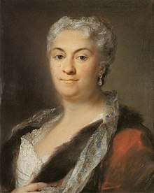 Elderly Lady (circa 1740), painting by Rosalba Carriera