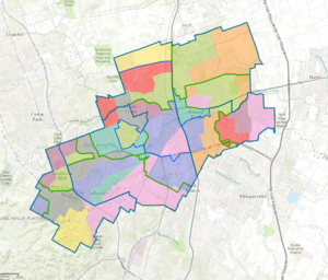Round Rock Independent School District - Image: Round Rock ISD boundary map