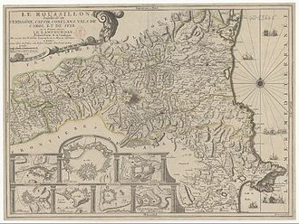 Angelets - Map of the province of Roussillon by Nicolas de Fer (1706)