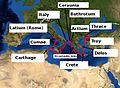 Route of Aeneas in the Mediterranean Sea by tom sulcer.jpg
