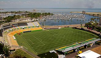 Tampa Bay Rowdies - Al Lang Stadium showing soccer arrangement since 2015