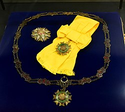 Royal Family Order of the Crown of Brunei. Awarded Honour to Tuanku Ja'afar in 1996. The Tuanku Ja'afar Royal Gallery, Seremban.jpg