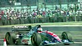 Rubens Barrichello - Jordan 194 leaves the pit lane at the 1994 British Grand Prix (32541336725).jpg
