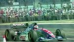 Rubens Barrichello - Jordan 194 leaves the pit lane at the 1994 British Grand Prix (32541336725).jpg