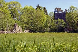 castle ruin in Unterseen, canton of Bern, Switzerland