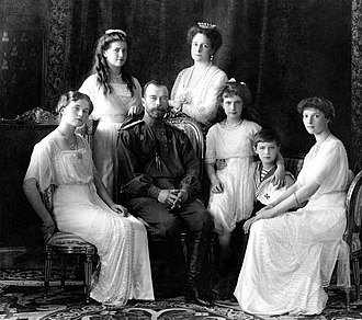 Execution of the Romanov family - Image: Russian Imperial Family 1913