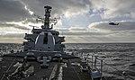Russian cruiser Marshal Ustinov and HMS St Albans MOD 45165065.jpg